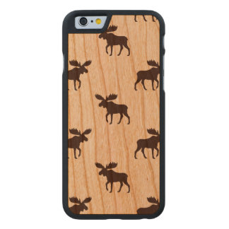 Moose Silhouettes Pattern Carved Cherry iPhone 6 Case
