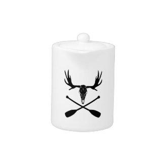 Moose Skull and Crossed Paddles