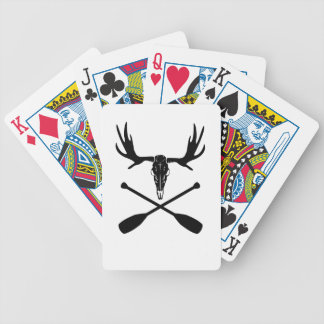 Moose Skull and Crossed Paddles Bicycle Playing Cards
