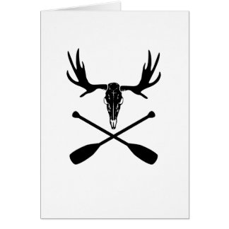 Moose Skull and Crossed Paddles Card