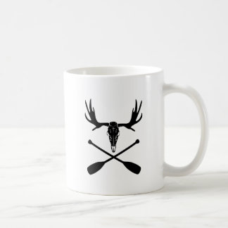 Moose Skull and Crossed Paddles Coffee Mug