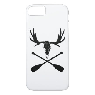 Moose Skull and Crossed Paddles iPhone 8/7 Case