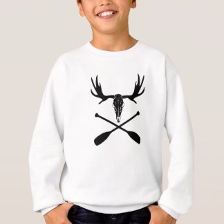 Moose Skull and Crossed Paddles Sweatshirt