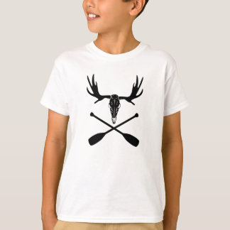 Moose Skull and Crossed Paddles T-Shirt