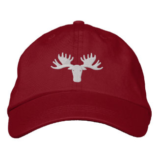 Moose Softball 2014 Adjustable Hat - Bright Red Embroidered Cap