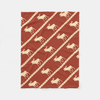 moose star fleece blanket