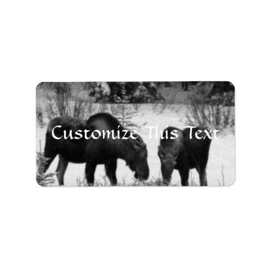 Moose Supper Address Label