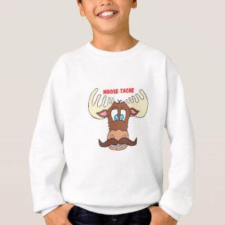 moose-tache sweatshirt