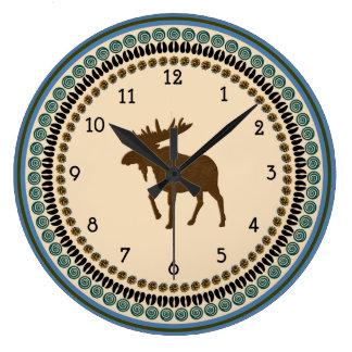 Moose Time Large Clock
