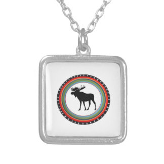 MOOSE TO SHOW SILVER PLATED NECKLACE