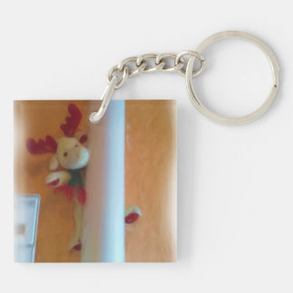moose toy square acrylic keychain