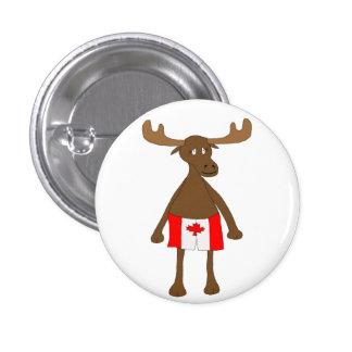 Moose wearing Canadian boxers 3 Cm Round Badge