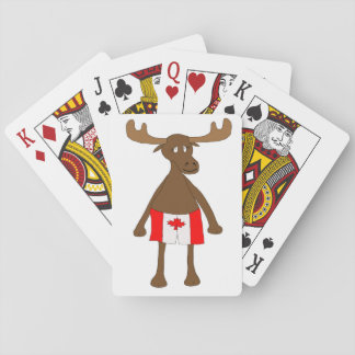 Moose wearing Canadian boxers Playing Cards
