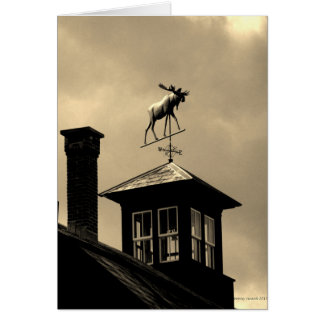 Moose Weather Vane New England Card
