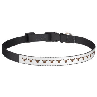 Moose with Big Antlers Dog Collar
