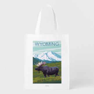 Moose with MountainWyoming
