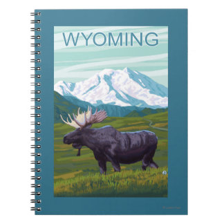 Moose with MountainWyoming Note Books
