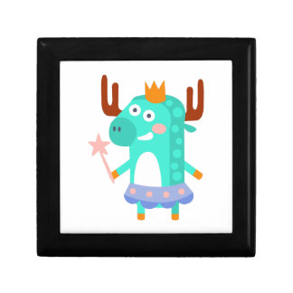 Moose With Party Attributes Girly Stylized Funky Gift Box