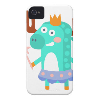 Moose With Party Attributes Girly Stylized Funky iPhone 4 Cases