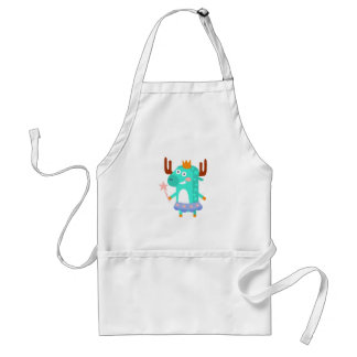 Moose With Party Attributes Girly Stylized Funky Standard Apron