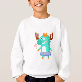 Moose With Party Attributes Girly Stylized Funky Sweatshirt