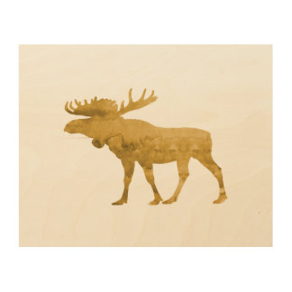 Moose Wood Wall Decor