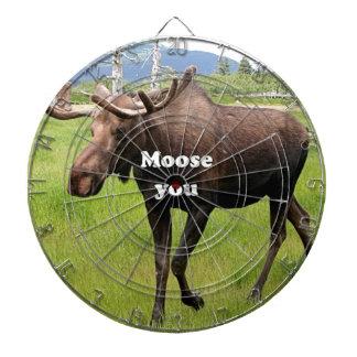 Moose you: Alaskan moose Dartboard