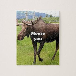 Moose you: Alaskan moose Jigsaw Puzzle