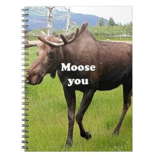 Moose you: Alaskan moose Notebook