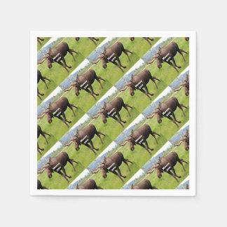 Moose you: Alaskan moose Paper Napkins