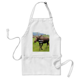 Moose you: Alaskan moose Standard Apron