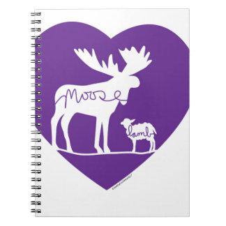 mooselambLOVE Spiral Note Book