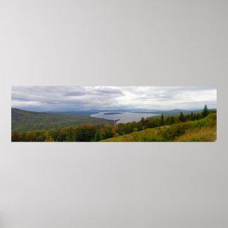 Mooselookmeguntic Lake Panorama, Maine Poster