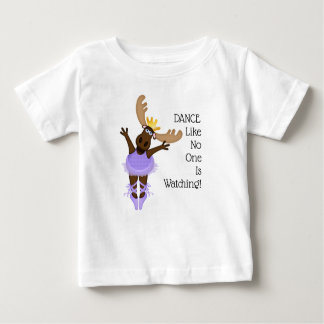 Mooserina the Clumsy Moose I Hope You Dance Baby T-Shirt