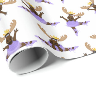 Mooserina the Clumsy Moose I Hope You Dance Wrapping Paper
