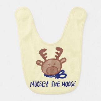 Moosey the Moose -Baby Bib - Keiki Aloha Line