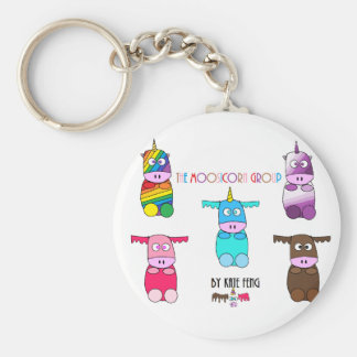 Moosicorns Basic Round Button Key Ring