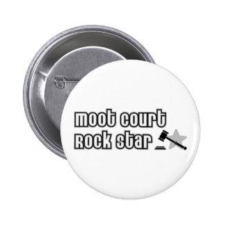 Moot Court Rock Star 6 Cm Round Badge