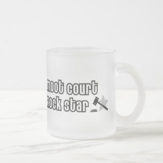 Moot Court Rock Star Frosted Glass Coffee Mug