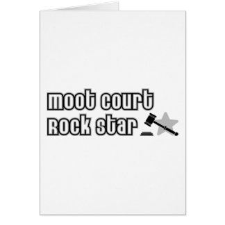 Moot Court Rock Star Greeting Card