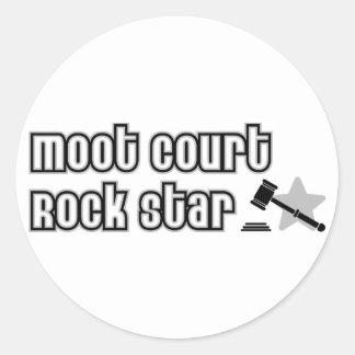 Moot Court Rock Star Round Stickers
