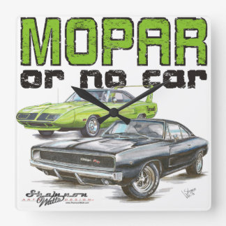 MOPAR or No Car Square Clock