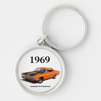 Mopar - Plymouth Road Runner - Satellite Silver-Colored Round Key Ring