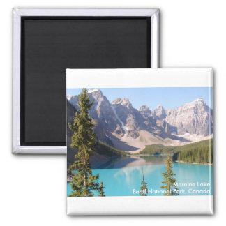 Moraine Lake/Banff National Park, Canada Square Magnet