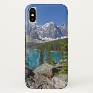 Moraine Lake, Canadian Rockies, Alberta, Canada iPhone X Case