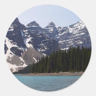 Moraine Lake Near Lake Louise In Canada Classic Round Sticker