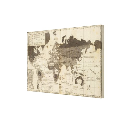 Moral, political World Canvas Print