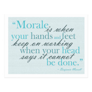 Morale Quote Motivational Postcard