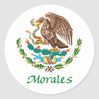 Morales Mexican National Seal Round Sticker