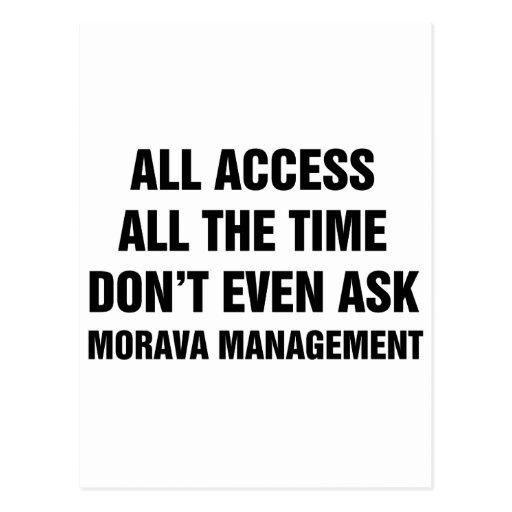 Morava Management Postcards